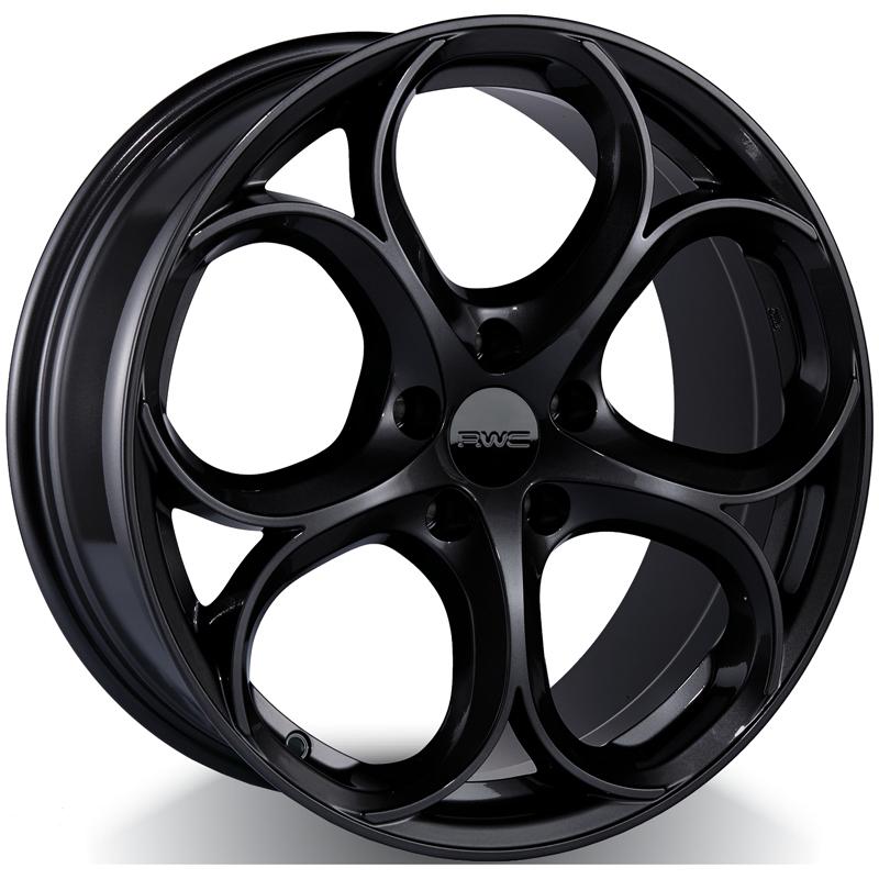 Alloy Wheels for ALFA ROMEO – BLACK Model AR55 - RWC Wheels